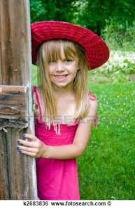 girl in barn door